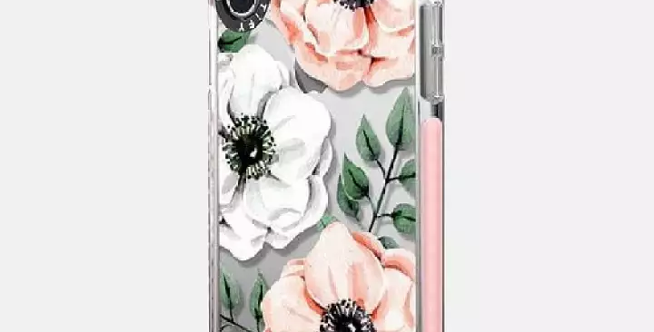 Casetify iPhone X/Xs Impact Case, Frost Watercolor Anemones