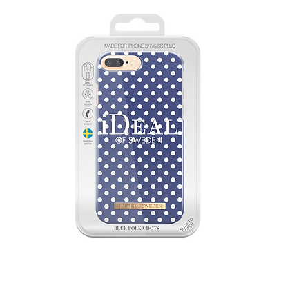 iDeal Of Sweden Fashion Case iPhone 8/7/6/6s Plus, Blue Polka Dots