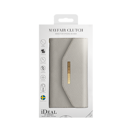iDeal Of Sweden Mayfair Clutch iPhone Xs Max, Light Gray