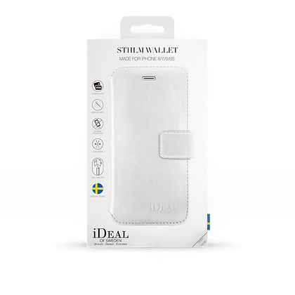 iDeal Of Sweden STHLM Wallet iPhone 8/7/6/6, White