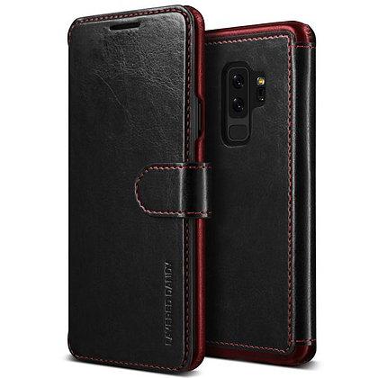 VRS Design Samsung Galaxy S9 Plus Dandy Layered PU Leather Case, Black