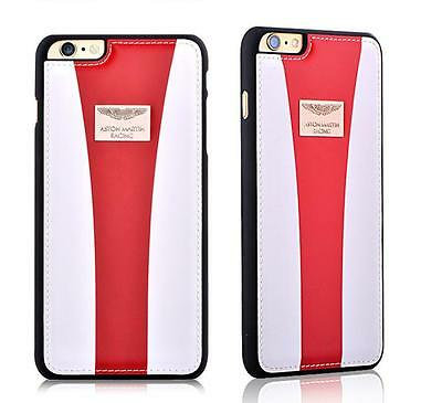 Aston Martin Racing iPhone 6 Leather Back Case Racing Strap, White/Red