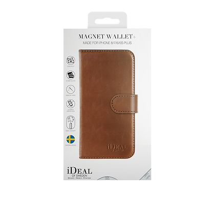 iDeal Of Sweden Magnet Wallet Plus iPhone 8/7/6/6s Plus, Brown