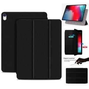 Just Must iPad Pro 11-inch Leather Folio Skin, Black