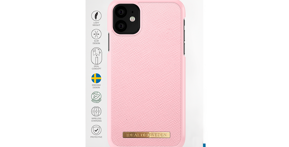 iDeal Of Sweden iPhone 11 Fashion Case Saffiano, Pink