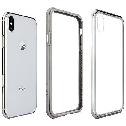 SwitchEasy iPhone Xs Max iGlass Aluminum+Glass+TPU Case, Silver