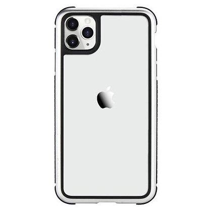 SwitchEasy iPhone 11 Pro Max Glass Rebel Glass+TPU+Alu Case, Metal Silver