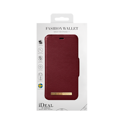 iDeal Of Sweden Fashion Wallet iPhone 11, Burgundy
