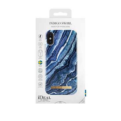 iDeal Of Sweden Fashion Case 2019 iPhone X/Xs, Indigo Swirl