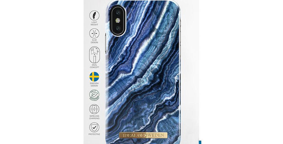 iDeal Of Sweden iPhone X/Xs Fashion Case 2019, Indigo Swirl