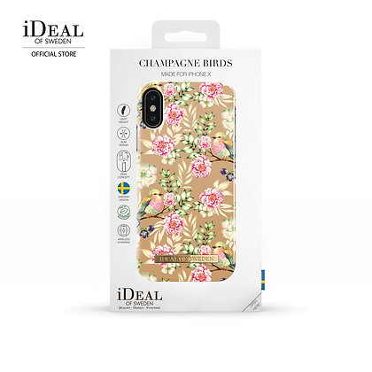 iDeal Of Sweden Fashion Case iPhone X/Xs, Champagne Birds