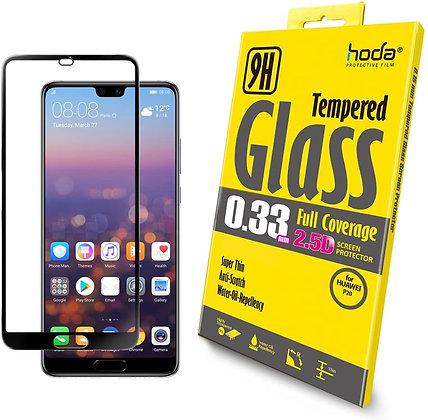 Hoda Huawei P20 0.33mm Full Coverage Tempered Glass, Clear