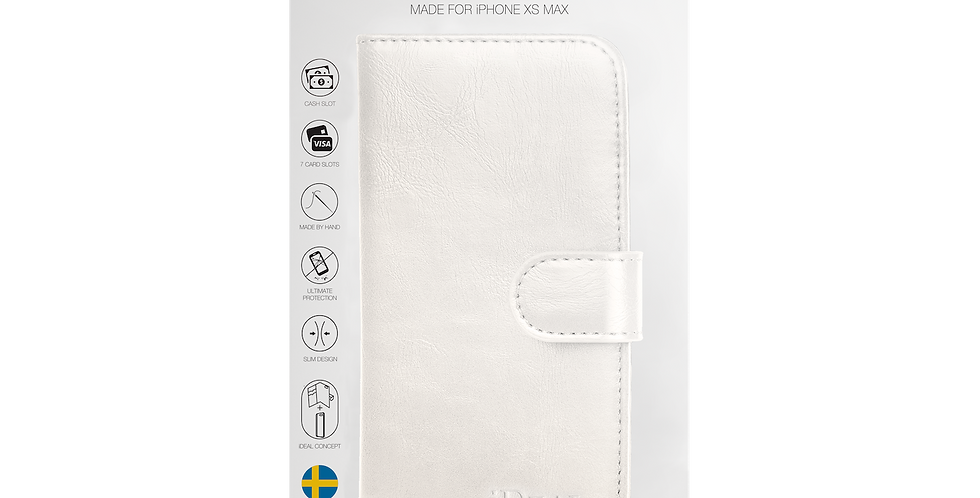 iDeal Of Sweden iPhone Xs Max Magnet Wallet Plus, White