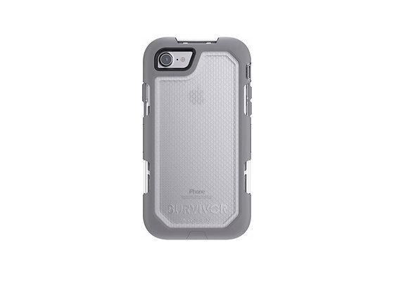 Griffin iPhone 7 Survivor Summit, Light Grey/White/Clear