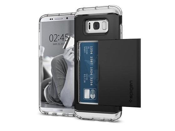Spigen Samsung Galaxy S8+ Crystal Wallet, Black