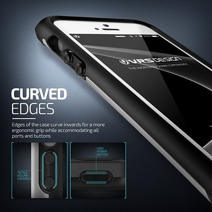 VRS Design iPhone SE Hard Drop, Light Silver
