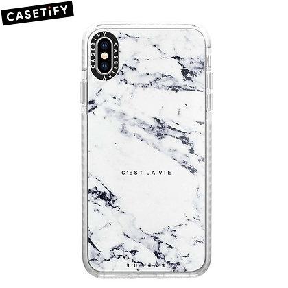 Casetify iPhone Xs Impact Case, Frost C'est La Vie/E/Marble