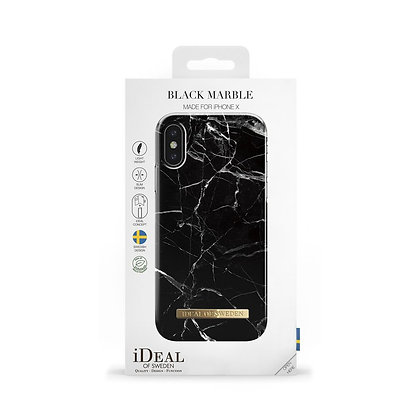 iDeal Of Sweden Fashion Case iPhone X/Xs, Black Marble