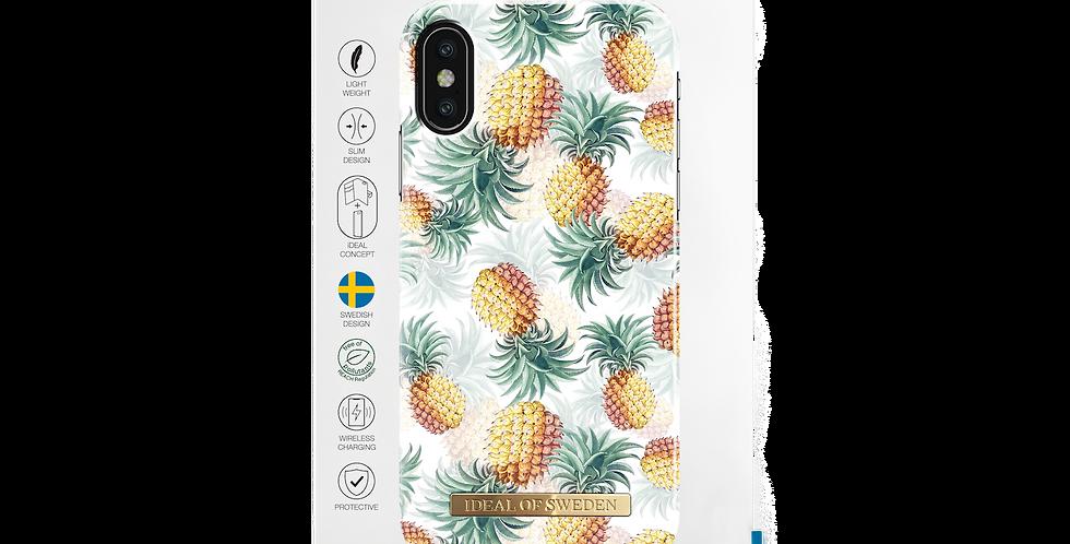 iDeal Of Sweden iPhone X/Xs Fashion Case, Pineapple Bonanza