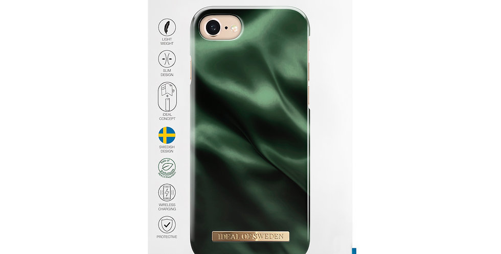 iDeal Of Sweden iPhone 8/7/6/6s Fashion Case, Emerald Satin