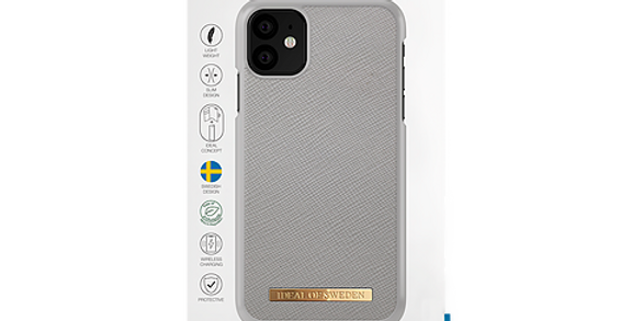 iDeal Of Sweden iPhone 11 Fashion Case Saffiano, Light Grey