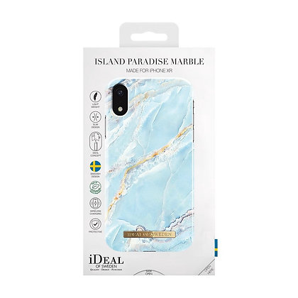 iDeal Of Sweden Fashion Case iPhone XR, Island Paradise Marble