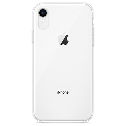 Comma iPhone XR Hard Jacket Case, Clear