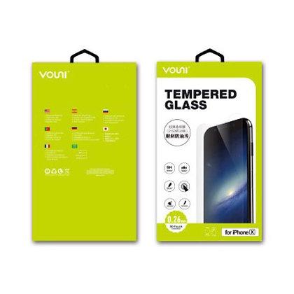 Vouni iPhone X Tempered Glass, 3D Curved Full Screen Black