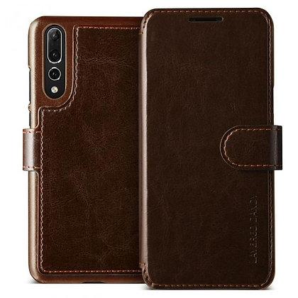 VRS Design Huawei P20 Pro Dandy Layered PU Leather Case, Dark Brown