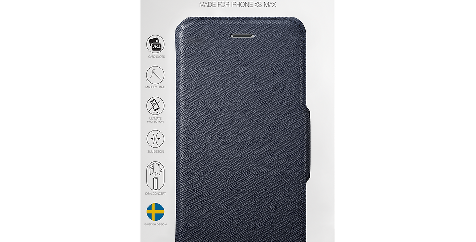 iDeal Of Sweden iPhone Xs Max Fashion Wallet, Navy