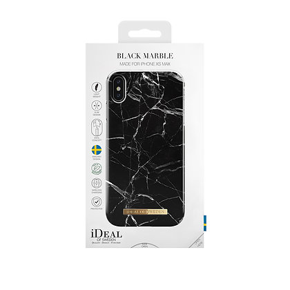 iDeal Of Sweden Fashion Case iPhone Xs Max, Black Marble