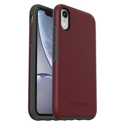 OtterBox Symmetry Series iPhone XR, Fine Port (Cordovan/Grey)