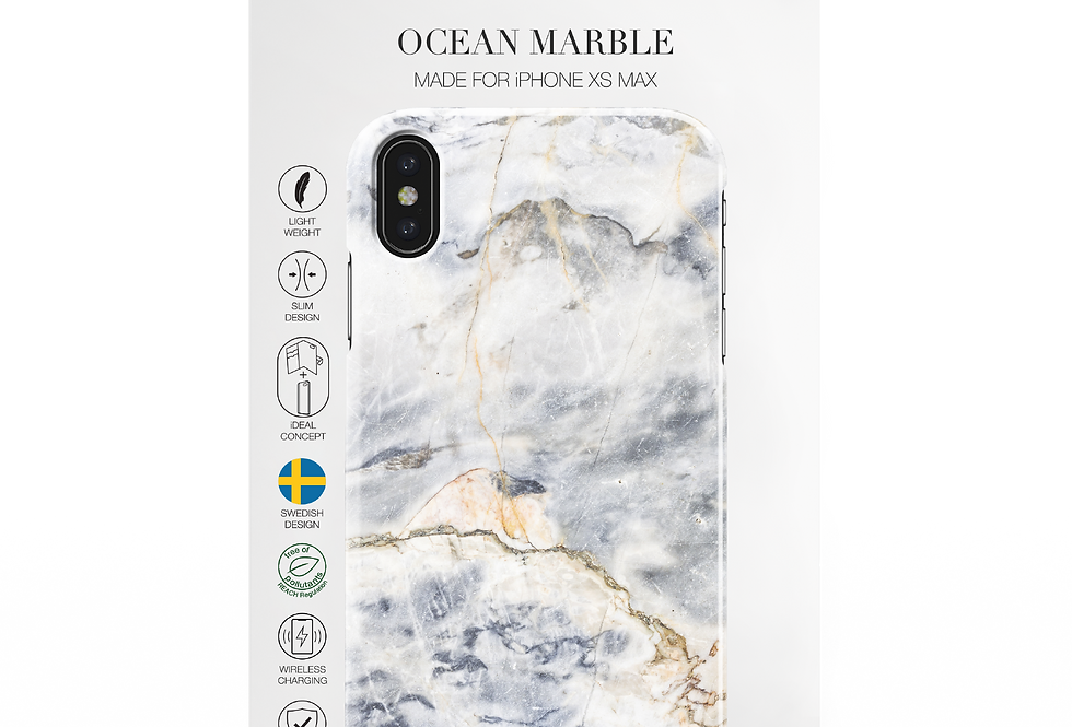 iDeal Of Sweden iPhone Xs Max Fashion Case,  Ocean Marble