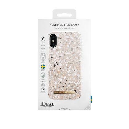 iDeal Of Sweden Fashion Case iPhone X/Xs, Greige Terrazzo