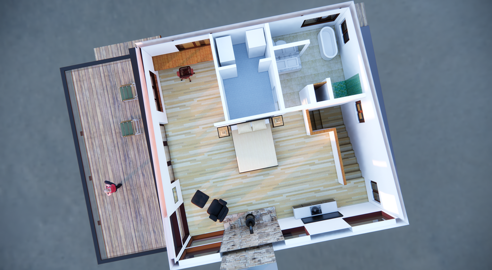 Model View Showing Floor Plan