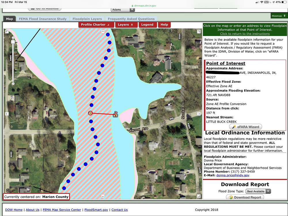 Indiana Department of Natural Resources Flood Plain Map