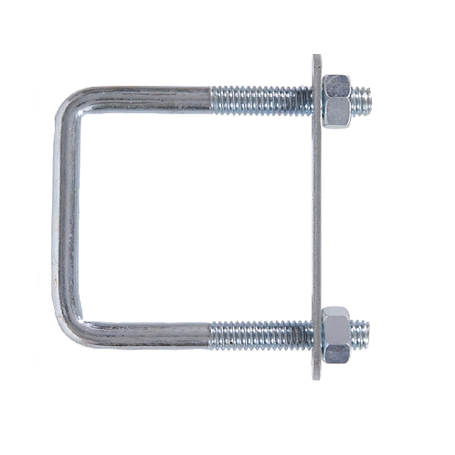 Square U-Bolts (Nuts & Plate)