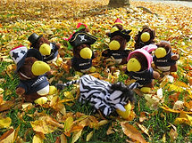 Bentley mascots dressed up for Halloween contest