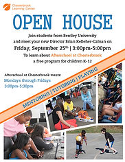 Open House poster for Chesterbrook Community Center