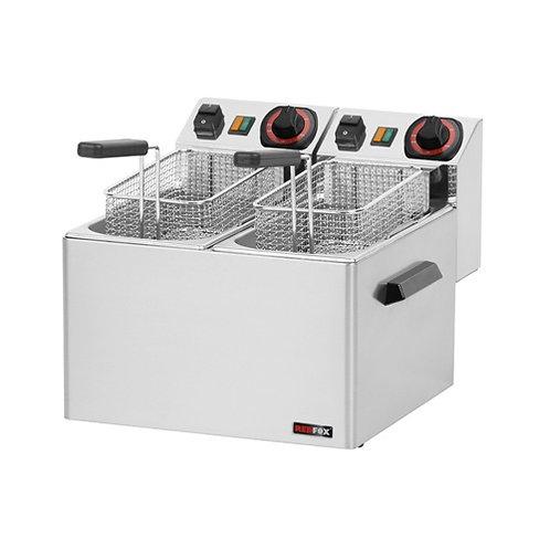 Fritéza stolová FE-44S, 2x5 litrov, 230V