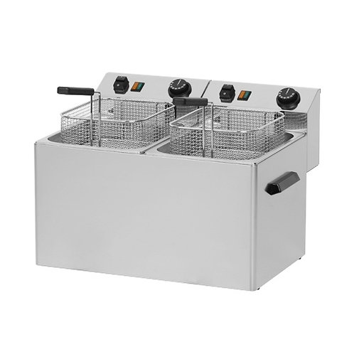 Fritéza stolová FE-77T, 2x8 litrov, 400V