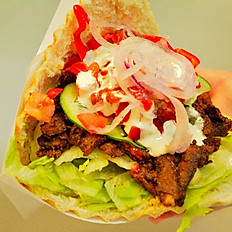 Kebab wieprzowy w bułce