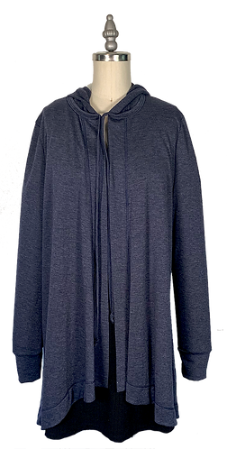 Navy Cape Hoodie 1.0 (No Pockets)