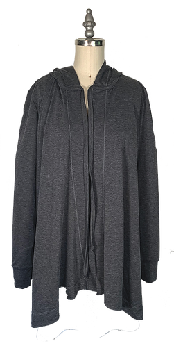 Charcoal Cape Hoodie 1.0 (no pockets)