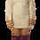 Thumbnail: White Burgandy Striped Dress Shirt Dress