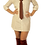 Thumbnail: White Burgandy Striped Dress Shirt Dress