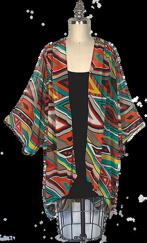Geometric Kimono Robe