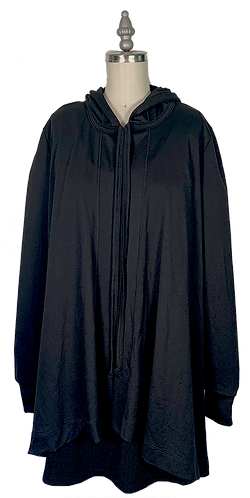 Black Cape Hoodie 1.0 (no pockets)
