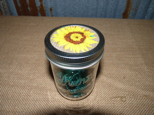 Half Pint Sunflower Jars - QTY 28