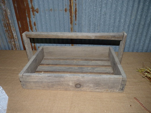Wooden Box With Handle - QTY 1